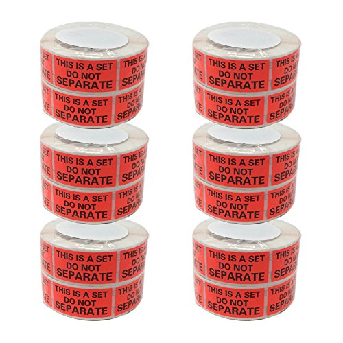 Shop4Mailers This is a Set Do Not Separate Red Labels 1 x 2 Rolls of 500 (12 Rolls)