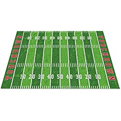 "Kid Carpet FE796-44A Football Field Nylon Area Rug, 7'6"" x 12', Multicolored"