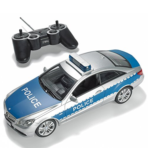 Prextex Rc Police Car With Lights And Realistic Police