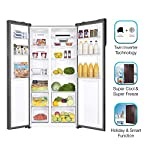 Haier 570 L Inverter Frost-Free Side-by-Side Refrigerator with Twin Inverter Technology (HRF-622CG, Brown, Chocolate…