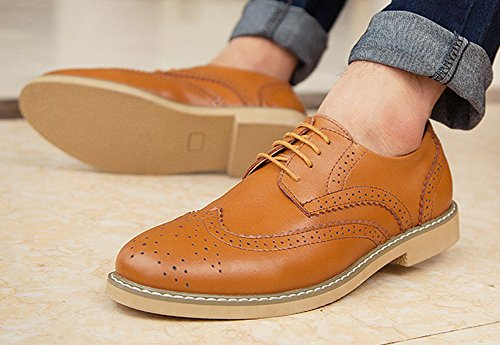 Aisun Mens Casual Oxford Kaki