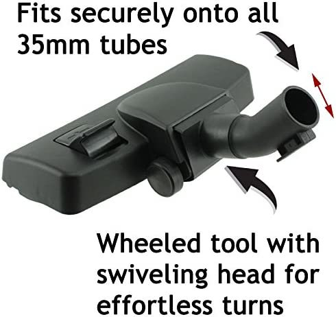 SPARES2GO 35mm Wheeled Floor Tool Brush Head for Bosch BGS51432 BSG81466 Vacuum Cleaner