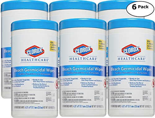 Clorox Healthcare, Professional Cleaner & Disinfectant Bleach Wipes - 70 Count x 6 Pack - Total 420 Premoistened ()