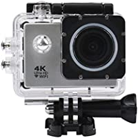 Howley Waterproof Case 4K WIFI Mini Action Cam HD DV Sports Camera (Silver)