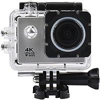 Howley Waterproof Case 4K WIFI Mini Action Cam HD DV Sports Camera (Silver)