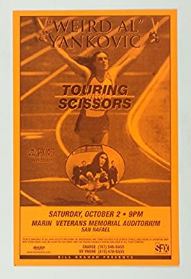 Weird Al Yankovic Poster Touring With Scissors 1999 Oct 02 San Rafael