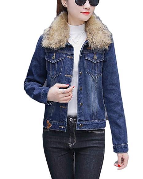 premium selection 38d38 a9140 GladiolusA Giubbino di Jeans Donna Manica Lunga Denim ...