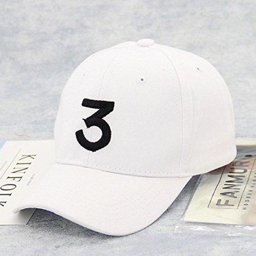 Vintage de Blanco Sombrero Algodón Unisex Gorra Absolute Vintage Número Ajustable Papá 3 de Béisbol Vintage Unisex Sarga ❤️ Ajustable EB0Aqxw