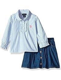 Girls' Fashion Top and Skort Set