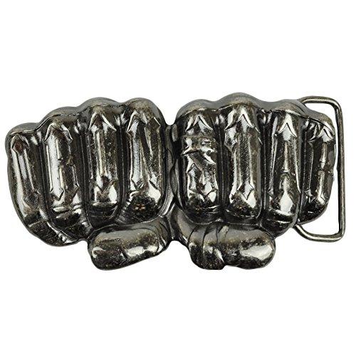 Iron Star Hand Fist Knuckles Metal Belt Buckle Accessory Novelty Punk Rock - Belt Buckle Hand