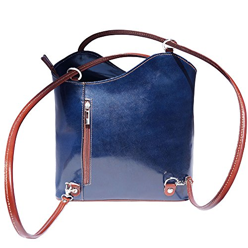 207 bag Convertible shoulder backpack Blue Brown and wqqITta