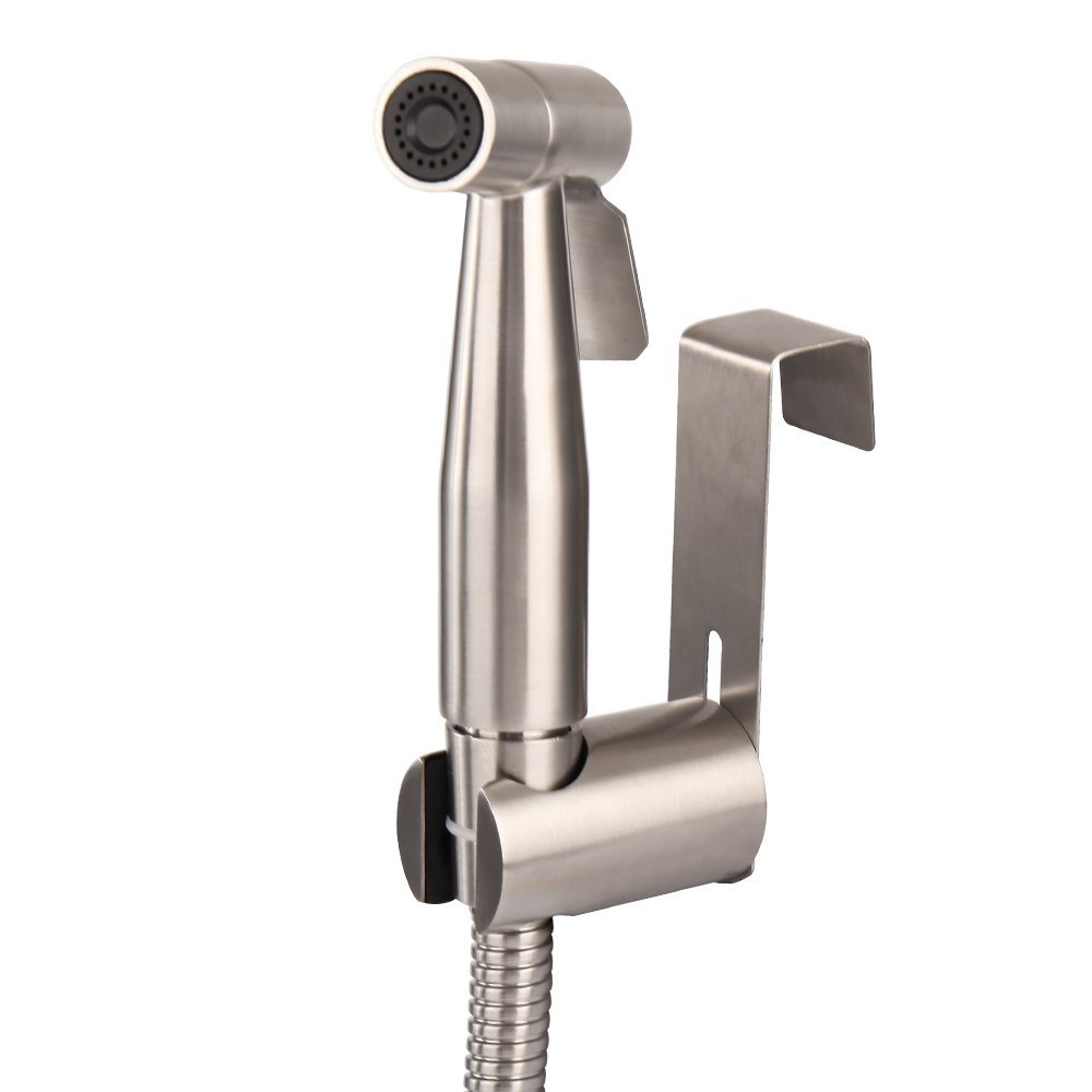 Stainless Steel Handheld Bidet Sprayer Kit - Bidet Toilet Sprayer Set For Toilet With Brushed Nickel Finish And Complete Accessories- Low to High Water Spray, SUS304- Light Silver (Sprayer-Kit)