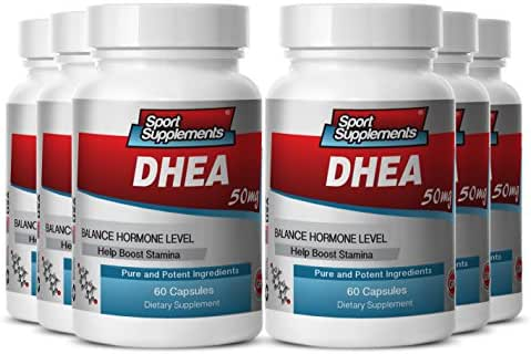 7 keto dhea 50mg - DHEA 50mg - Support Healthy Physical and Psychological Outlook in Men and Women with Herbal DHEA Supplement (6 bottles 360 capsules)