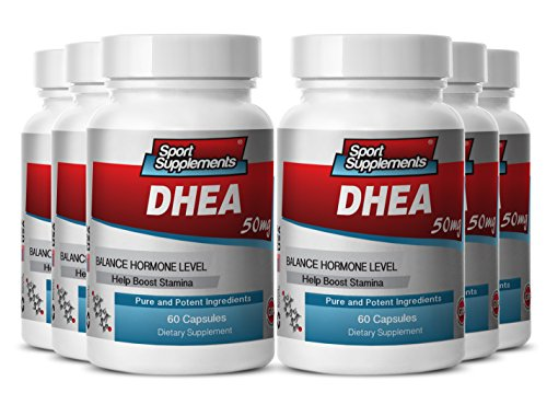 dhea Arginine - DHEA 50mg - Support Male Sexual Function, Performance and Libido with DHEA Premium Supplement (6 bottles 360 capsules) by Sport Supplement
