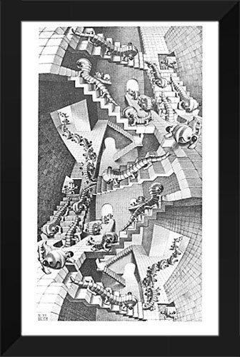M.C. Escher Framed Art Print 22x35