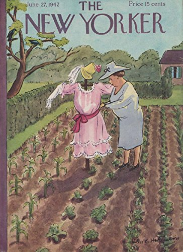 New Yorker cover 6/27 1942 Hokinson matron dresses scarecrow in pink (New Yorker Dresses)