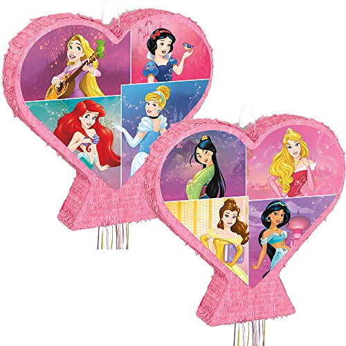 Heart-Shaped Disney Princess Pinata, Pull String