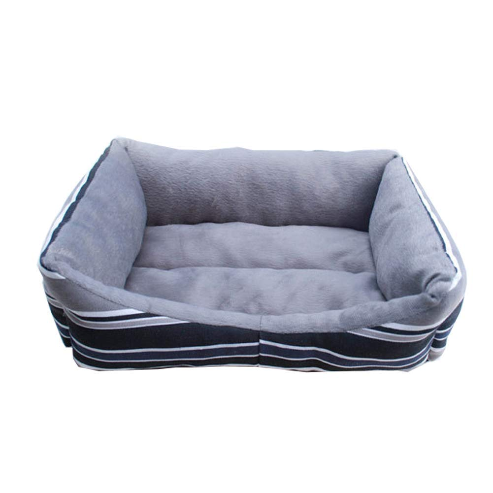 Grey Large Grey Large Kennel Pads Dog Beds The Dog's Bed,Fashion Rainbow Stripes Premium Plush Dog Beds in Oxford Cloth, Fully Washable, Extremely Soft Comfortable Cat Bed Pet Supplies Cover (color   Grey, Size   L)