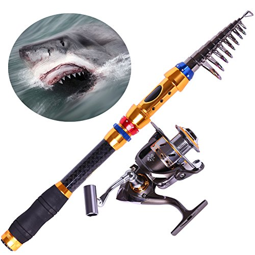 Sougayilang portable telescopic fishing rod and reel for Travel fishing pole