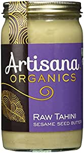 Artisana Organics - Tahini Sesame Seed Butter, Single Ingredient Handmade Rich and Thick Spread, USDA Organic Certified and Non-GMO (14 oz)
