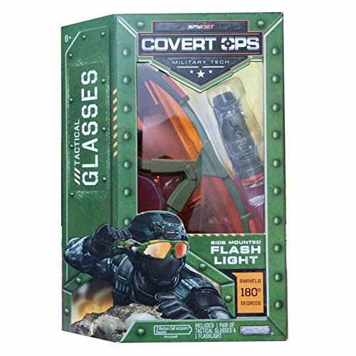 Covert Spy Gear (SpyNet Covert Ops Tactical Glasses with Side Mounted Flash Light)