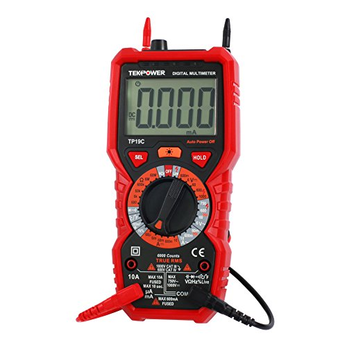al Purpose Manual-ranging True RMS AC/DC 10A Digital Multimeter with Non-contact Voltage Detector (NCV), Live Wire Tester & Flashlight (Full Range Digital Thermometer)