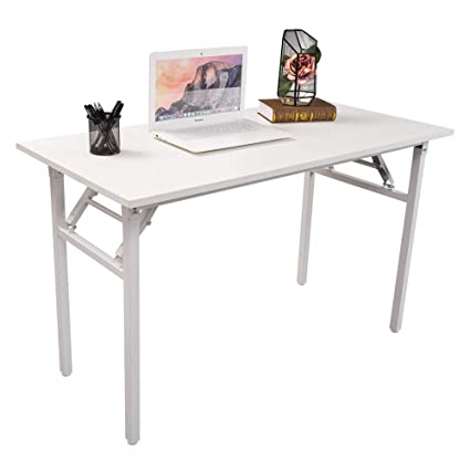 Delicieux Amazon.com : Halter Folding Computer Desk   Foldable Writing U0026 Study Table  For Home U0026 Office Desk Use   White : Office Products