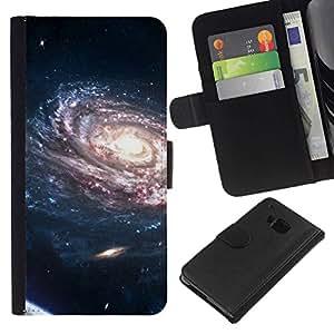 All Phone Most Case / Oferta Especial Cáscara Funda de cuero Monedero Cubierta de proteccion Caso / Wallet Case for HTC One M9 // Space Planet Galaxy Stars 37