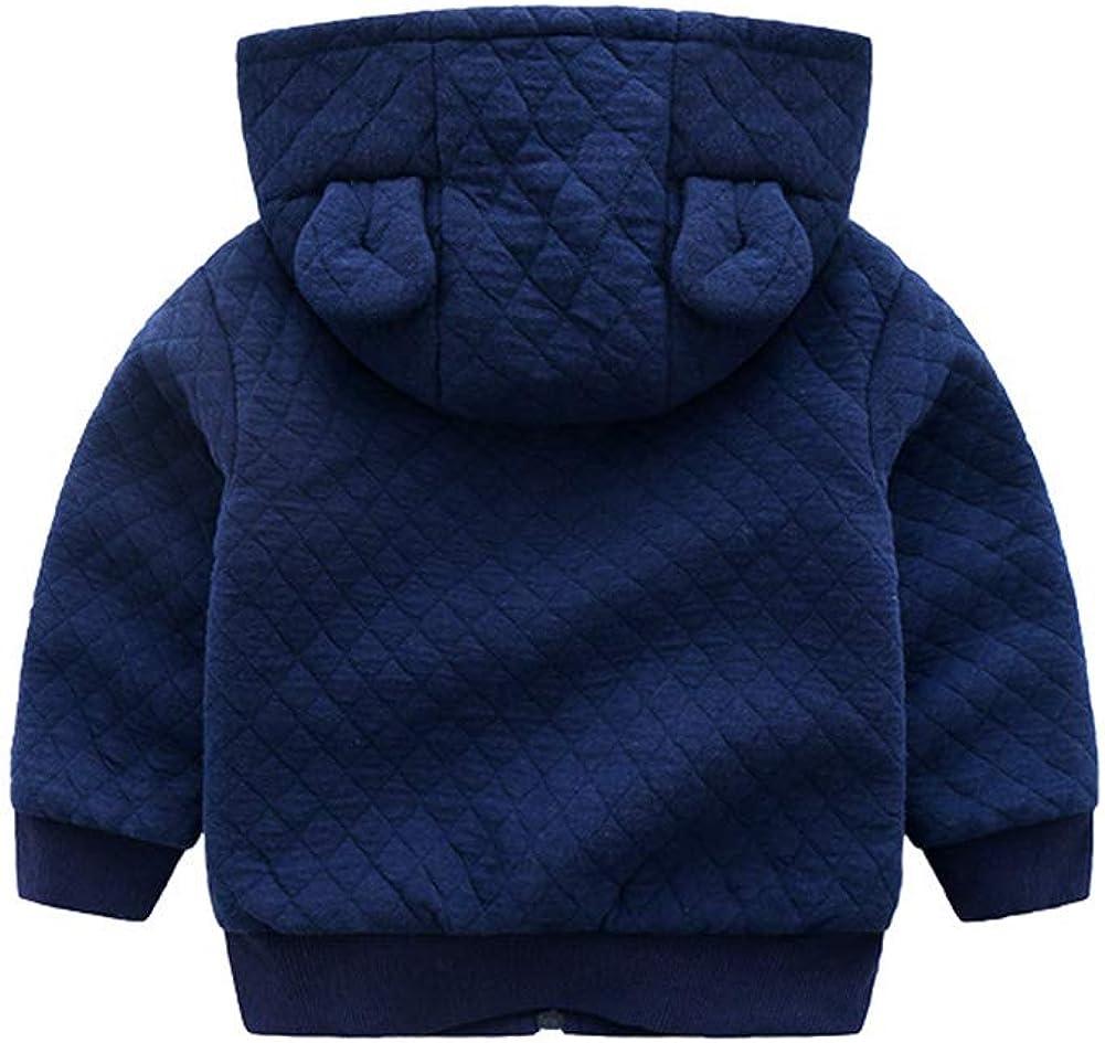 TAIYCYXGAN Baby Boys Winter Warm Jacket with Hood Kids Zip-up Hoodies Outwear Coat Fleece Lined