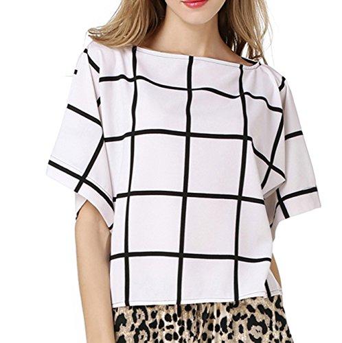 Sommer Oberteile Damen Mode Blouse Reizvolle Wort Schulter T-shirt Kurzärmlig Hemden Gestreift Top Loose Freizeit Blusen