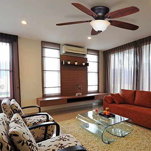 Harbor Breeze Pawtucket 52-in Oil Rubbed Bronze Flush Mount Indoor Ceiling Fan with Light Kit and Remote by Harbor Breeze by