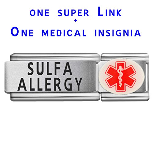 sulfa-allergy-dolceoro-italian-charm-medical-id-modular-enamel-super-link