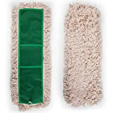 24'' Dust Mop Head, Replacement Cotton Mop Heads Washable Cleaning Floor Mop for Hardwood Floor Clean, Office, Garage Care, Laminate, Tile Flooring, Home & Commercial Use