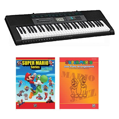 Casio CTK2550 61-Key Keyboard Deluxe Package with Super Mario Series for Piano Book & Super Mario Jazz Piano Arrangements Book - Jazz Arrangement