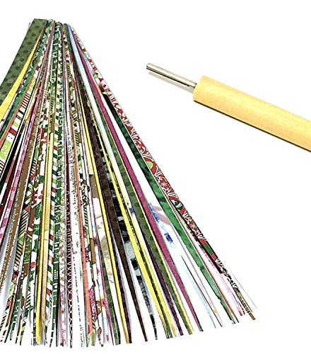 Paper Bead Roller Slotted 3MM Quilling Tool with Pack of Paper Strips to Make Paper Beads Digital User Instructions Included from Ground Zero Creations