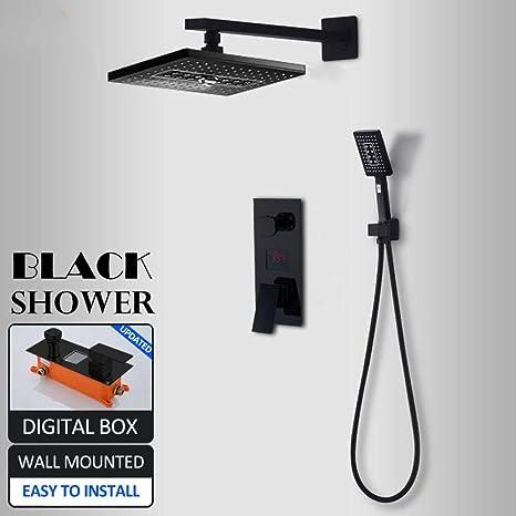 ZKYXZG Set de ducha Conjunto de grifos de ducha digitales LED ...