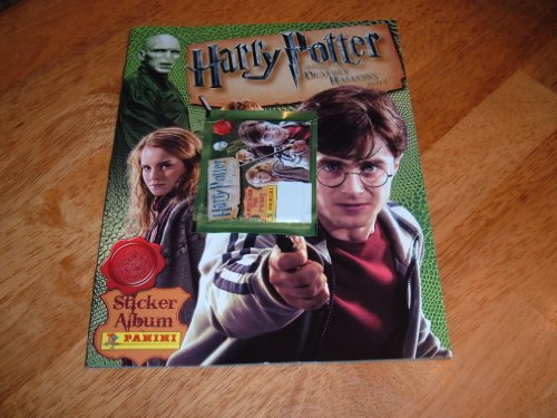 2010 Harry Potter & The Deathly Hallows Part I-Panini Sticker Album w. packet of 8 stickers.