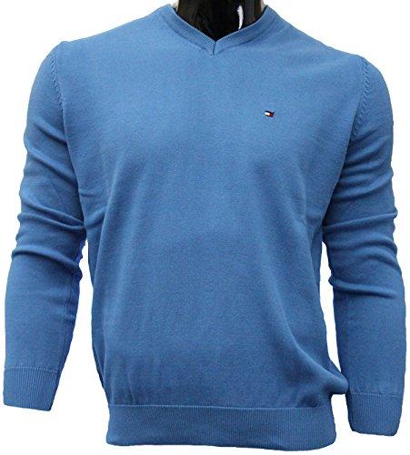 Tommy Hilfiger Herren Pullover stahlblau XL