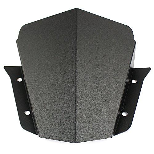 (US STOCK Motorcycle Aluminum Windscreen Windshield Wind Shield Screen Protector with Bracket For 2014-2016 Yamaha FZ09 MT09 FZ-09 MT-09 MT-09 2015)