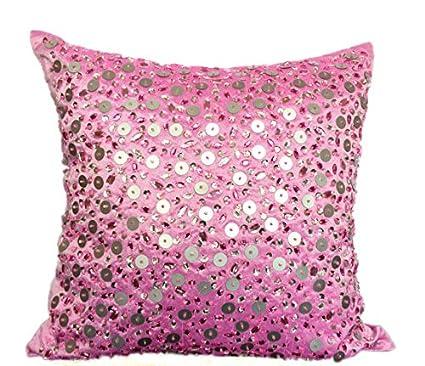 Amazon.com The White Petals Pink Decorative Pillow Cover