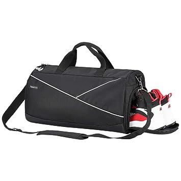 Amazon.com: Bolsa de gimnasio deportiva con bolsillo mojado ...