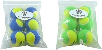 Get Outside Games Texas Toss Ball Kit - Tennis Balls for Ladder Toss/Ladder Golf/Hillbilly Golf - 4 Colors Available