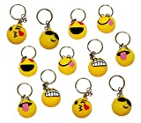 Rhode Island Novelty Light Up Emoji Keychain Balls - Pack of 12 Fun