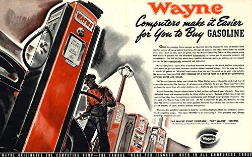 (Wayne Computing Gasoline Pumps make it easier for You to Buy Gas ad 1939 F)