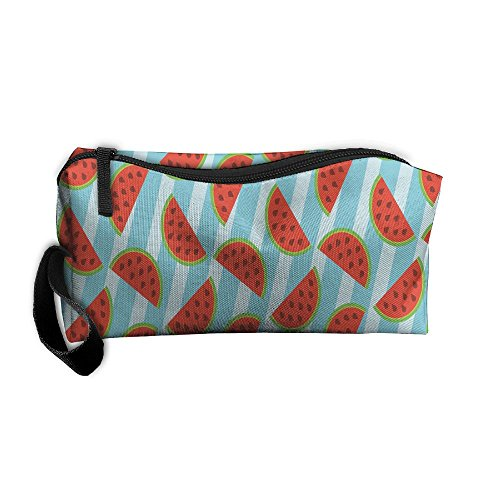 Watermelon And Stripe Storage Cosmetic Bag Portable Travel Makeup Bag Packing Pouches