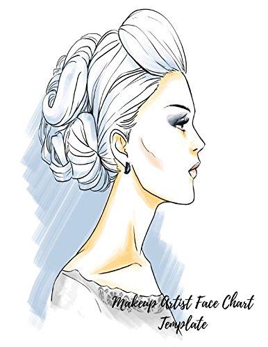 Amazon Com Makeup Artist Face Chart Template Eye Make Up Chart