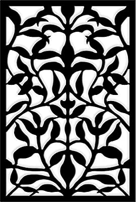 Acurio 4832ID-1-BK-OVB Lattice Olive Branch Panel Screen as Trellis, Patio & Outdoor Decor, Black