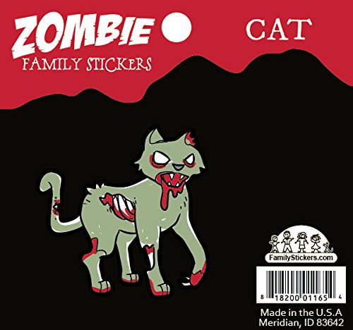 [Zombie Family Car Stickers Vinyl Auto Decal, Cat] (Zombie Family Decals)