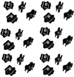 Only Hangers Gridwall Joining Clip Connectors for Grid Panels - Pack of 24 - Black Color
