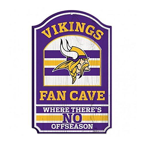 (WinCraft NFL Minnesota Vikings Wood Sign, 11 x 17-Inch )
